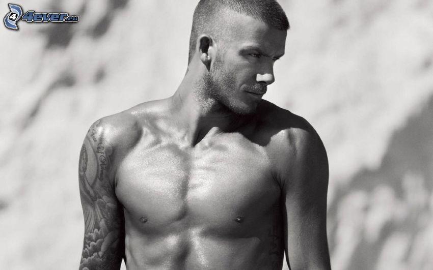 David Beckham, Foto en blanco y negro