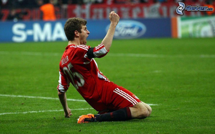 futbolista, alegría