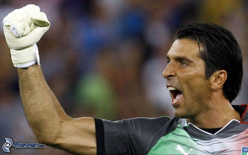 Gianluigi Buffon, futbolista, alegría