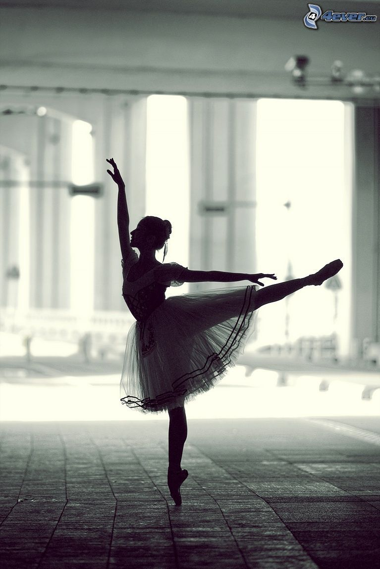 bailarina, postura, falda