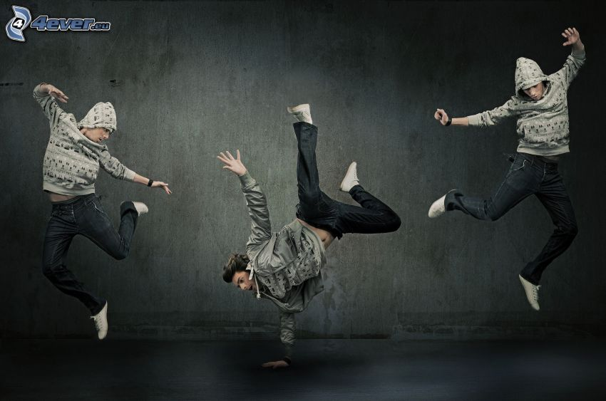 Bailarines, breakdance