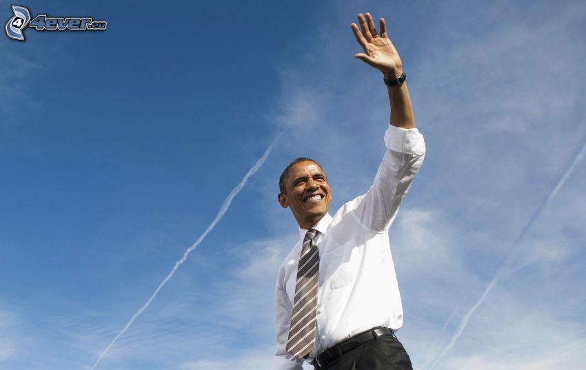 Barack Obama, saludo, marcas de condensación