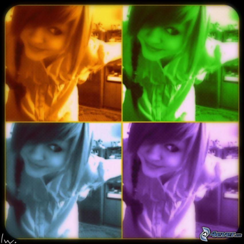 chica de color, Andy Warhol