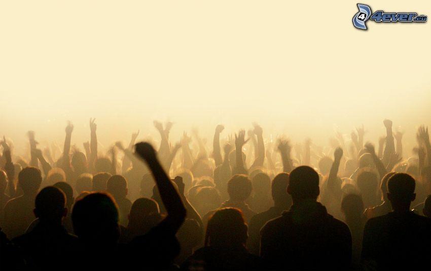 concierto, personas