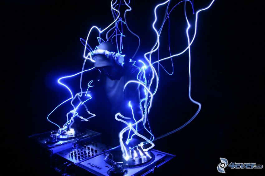 DJ, luces