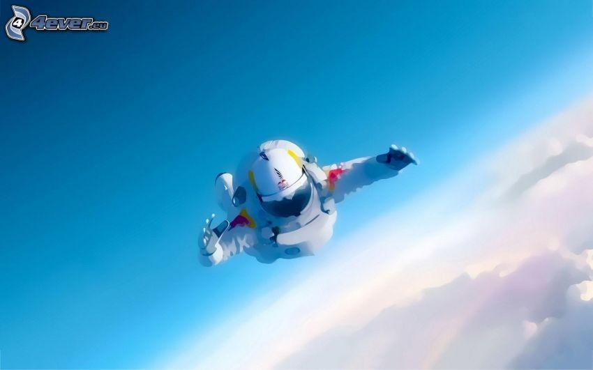 Felix Baumgartner, astronauta, caída libre