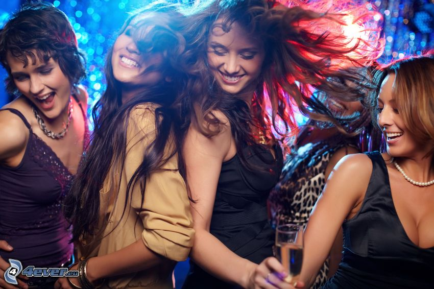 fiesta, baile, sonrisas