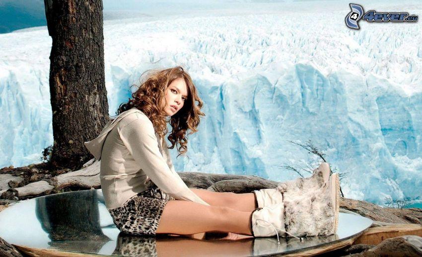 Florencia Salvioni, glaciar