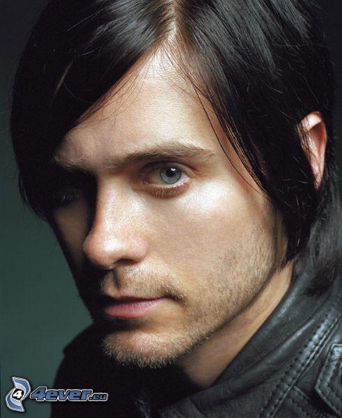 hombre, flequillo, ojos azules