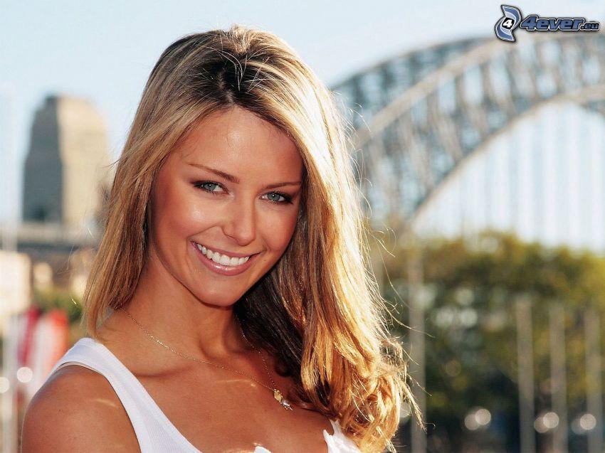 Jennifer Hawkins, modelo, Sydney Harbour Bridge