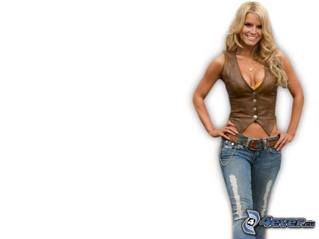 Jessica Simpson, rubia, chica vaquero