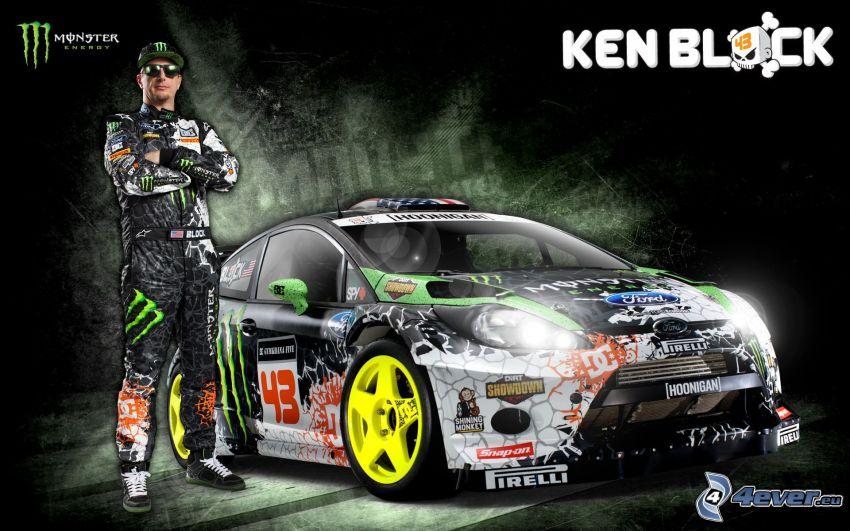 Ken Block, Ford, coche de carreras, Monster