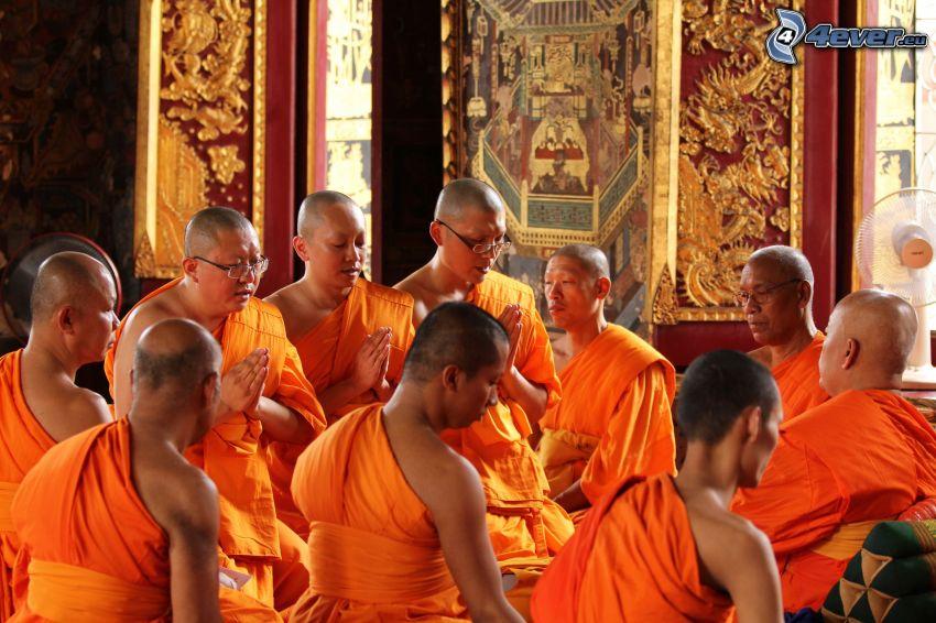 monjes, oración