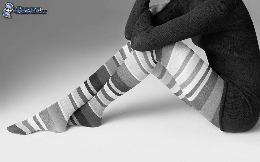 mujer, piernas largas