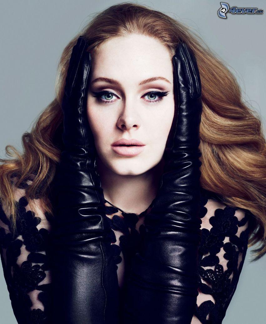 Adele, guantes