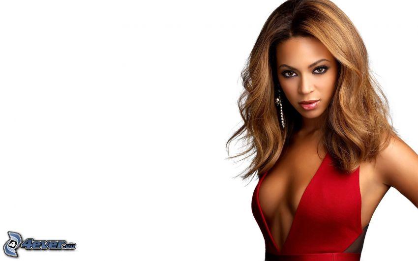 Beyoncé Knowles, vestido rojo