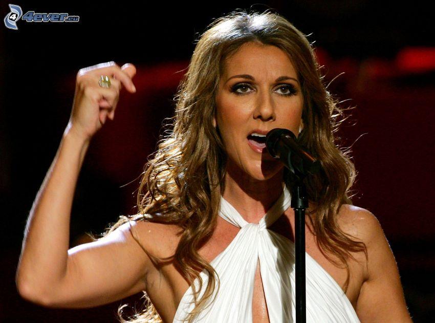 Celine Dion, canción, micrófono