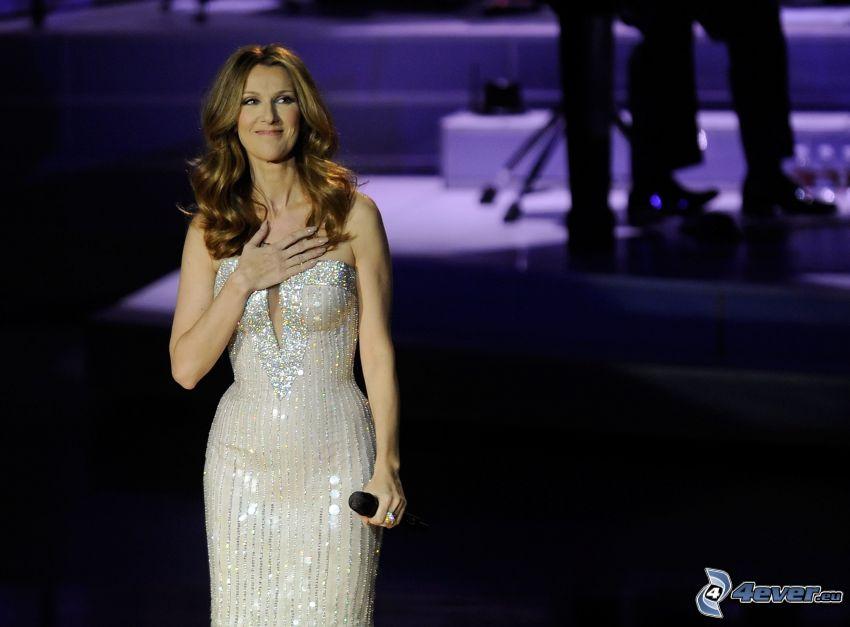 Celine Dion, vestido blanco