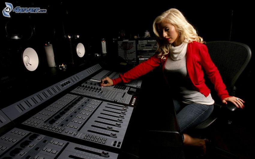 Christina Aguilera, estudio de grabación