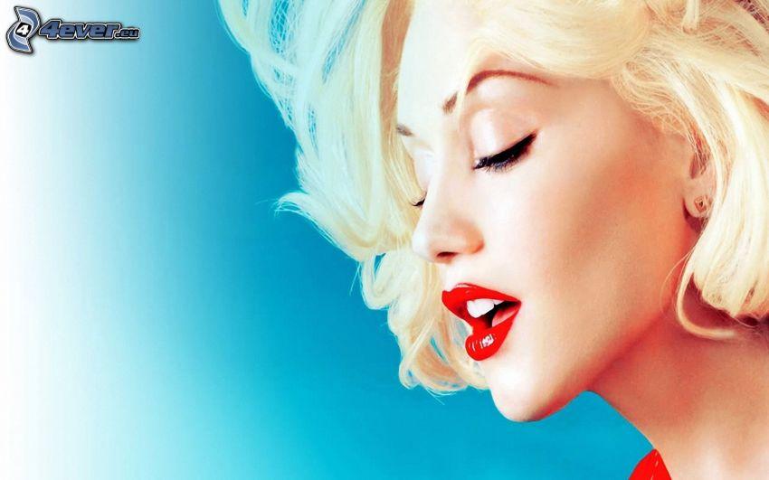 Gwen Stefani, labios rojos
