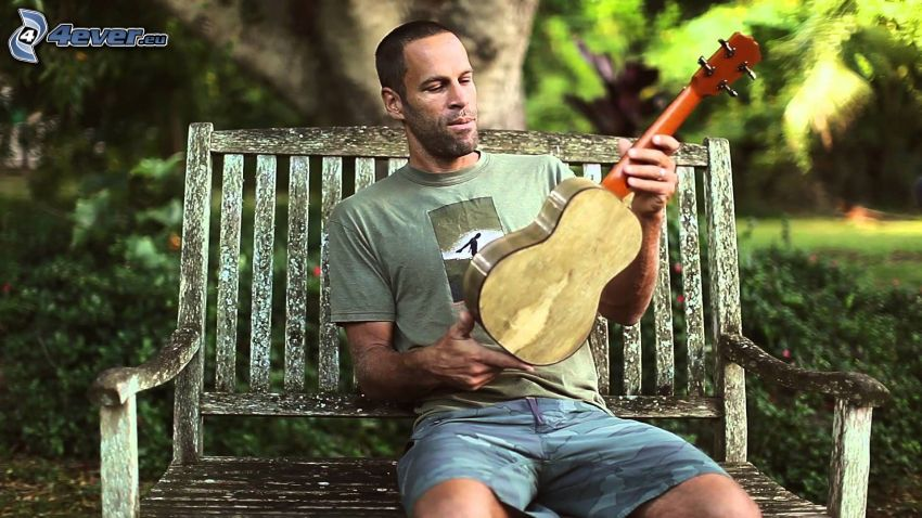 Jack Johnson, banco, guitarra