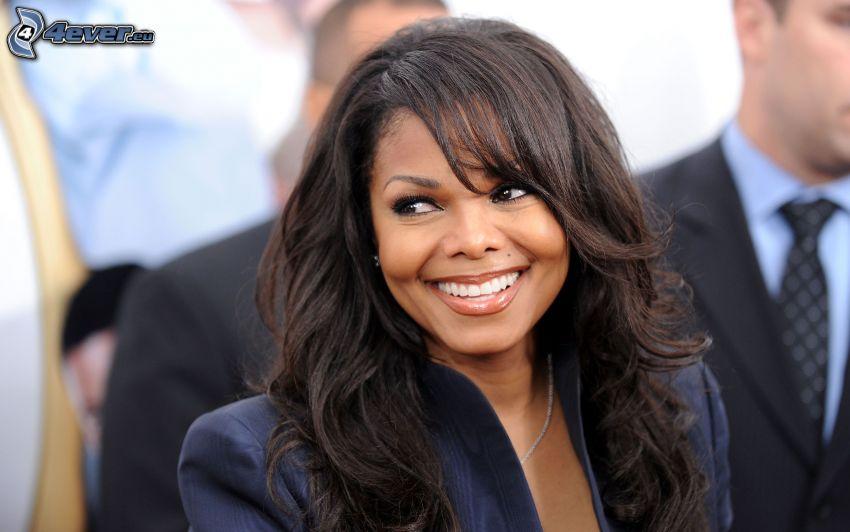 Janet Jackson, mirada, sonrisa