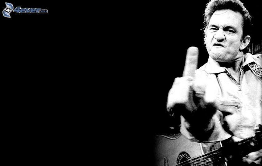 Johnny Cash, gesto, guitarra