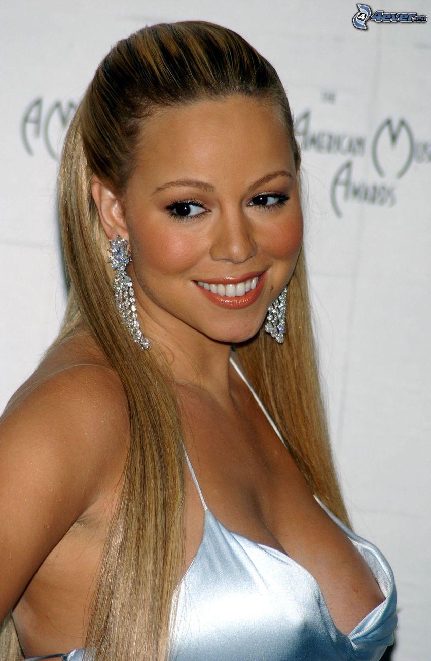 Mariah Carrey, sonrisa, mirada