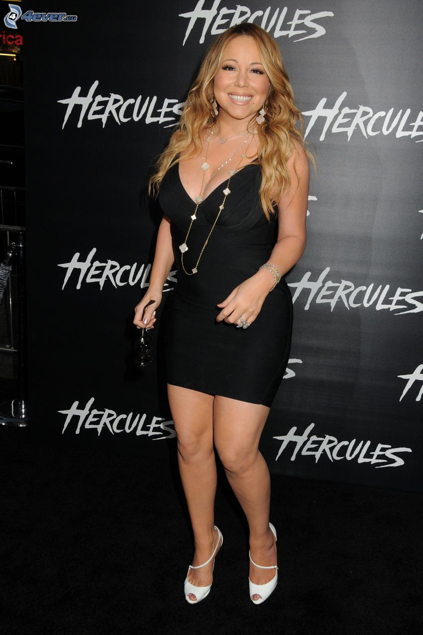 Mariah Carrey, vestido negro