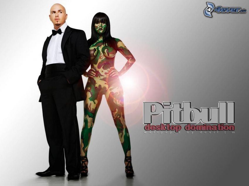 Pitbull, mujer soldado