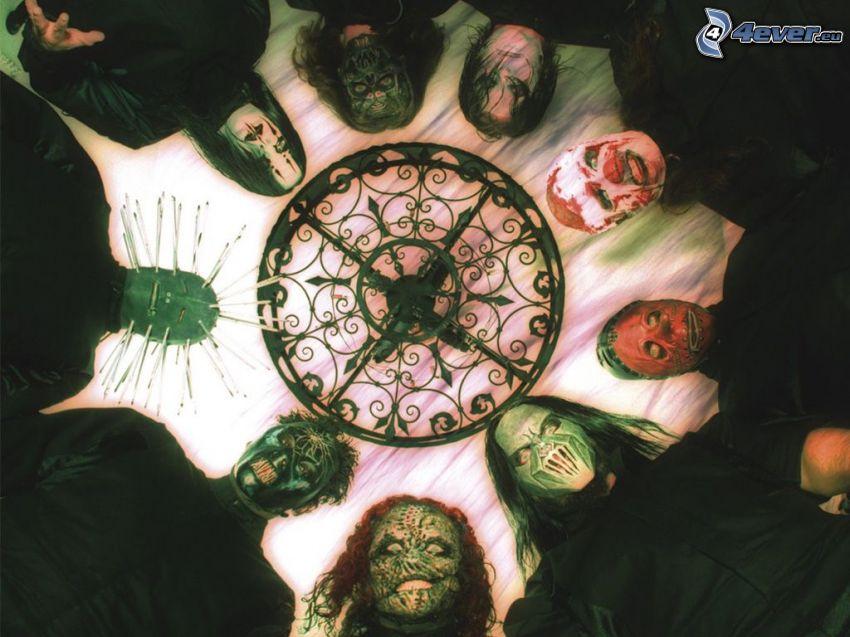 slipknot, máscaras