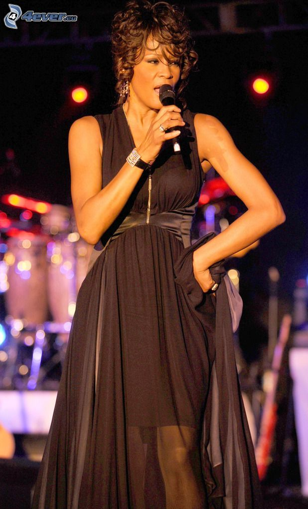 Whitney Houston, canción, vestido negro