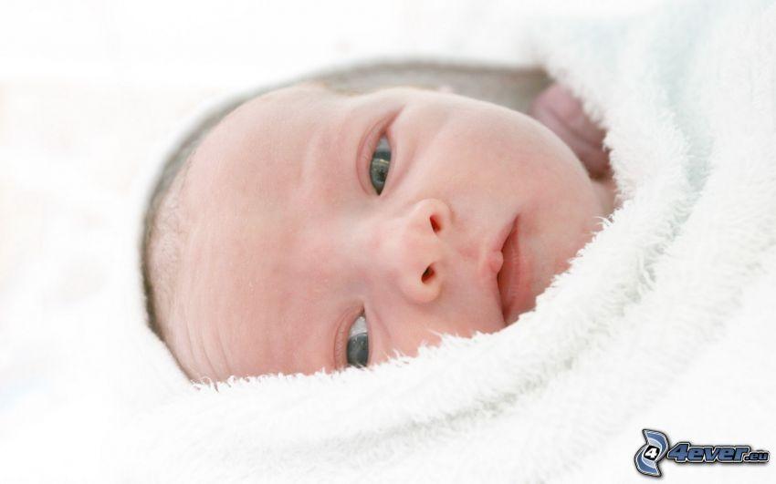 bebé, ojos verdes