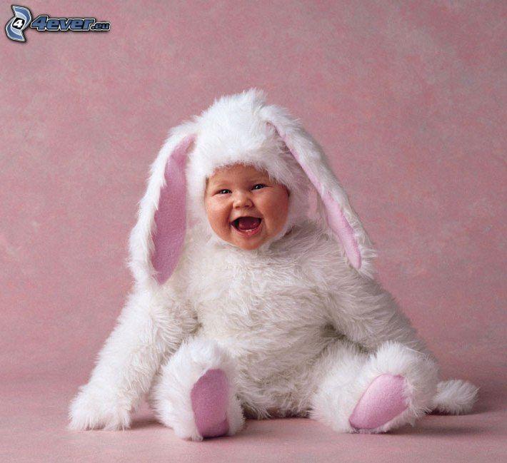 bebé, vestuario de liebre