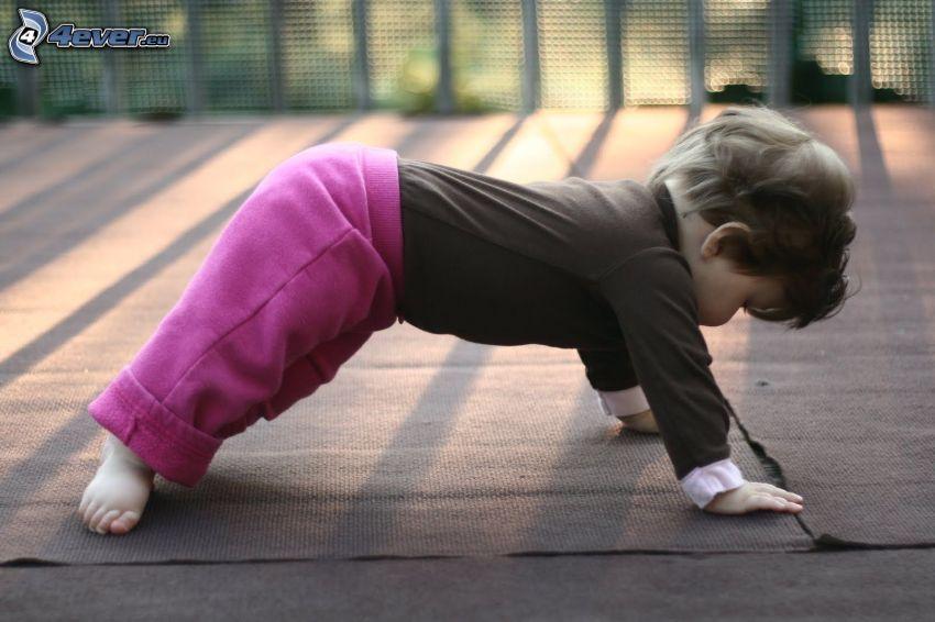 bebé, yoga