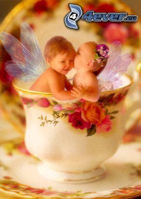 niños, ángeles