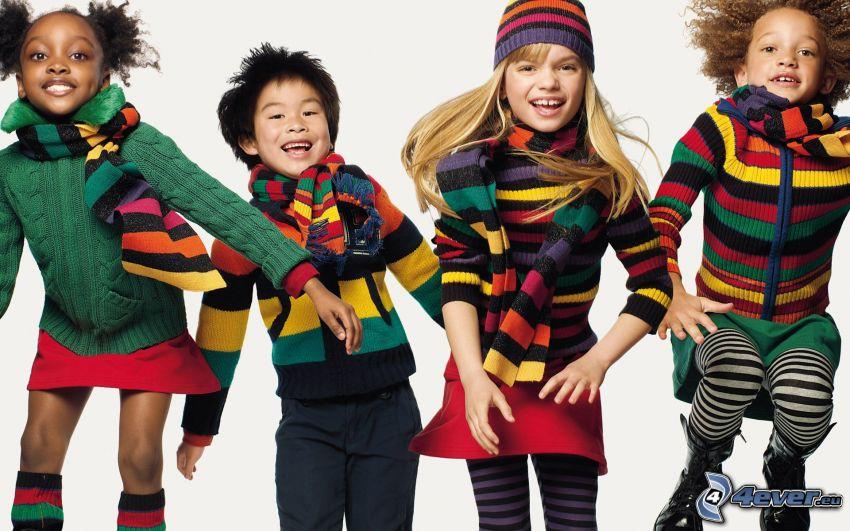 niños, negra, chino