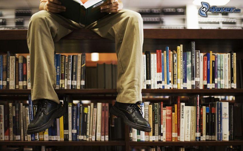pies, biblioteca