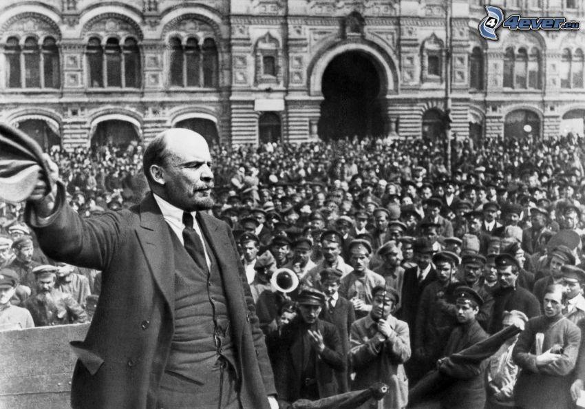 Vladimir Lenin, multitud, Comunismo
