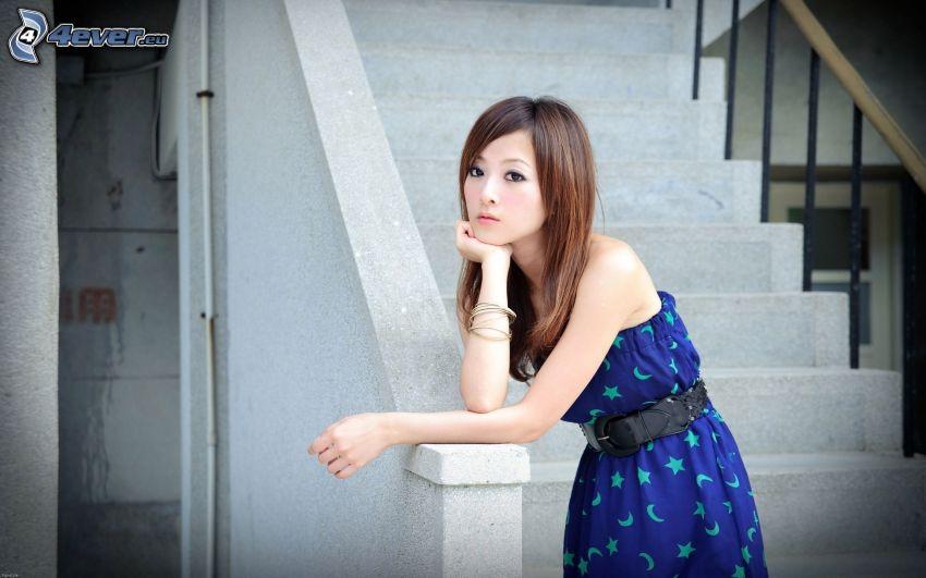 Zhang Mikako Kaijie, escalera