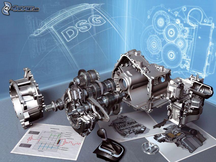 caja de cambios de 7 velocidades DSG, volkswagen