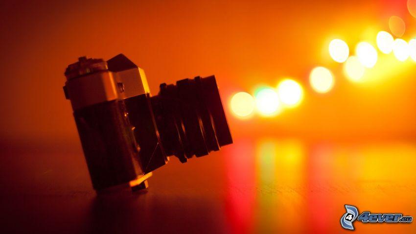 cámara, luces