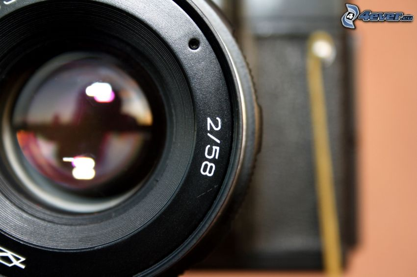 cámara, objetivo
