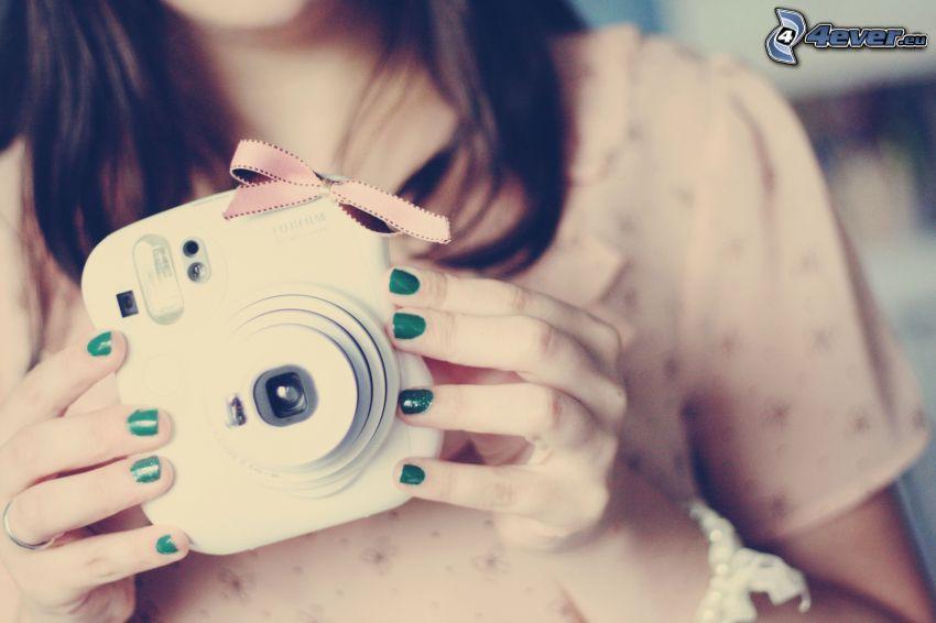 chica con cámara