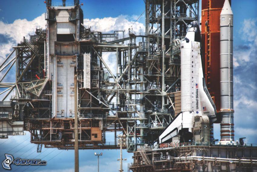 Endeavour, transbordador espacial, rampa de lanzamiento