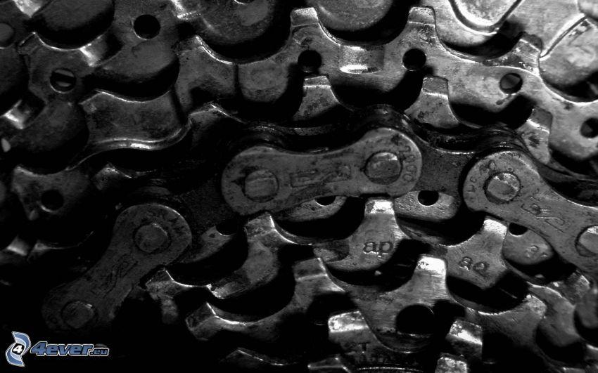 engranajes, cadena, bicicleta