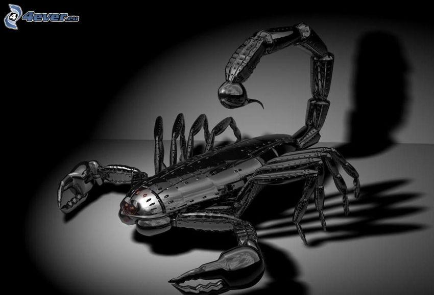 escorpión, robot, animal mecánico