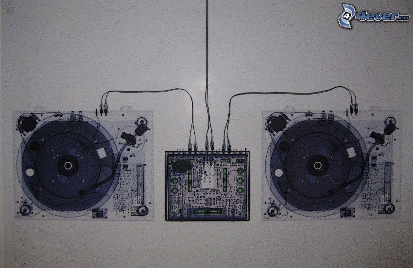 gramófono, bocetos