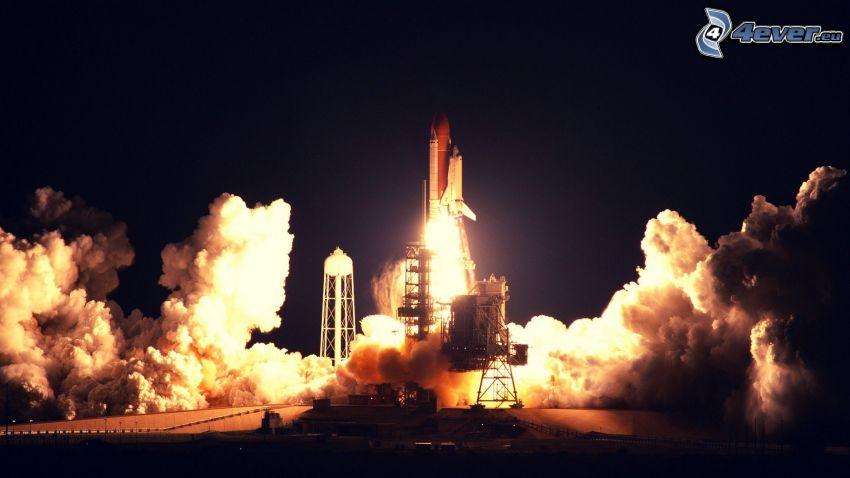 lanzamiento del transbordador