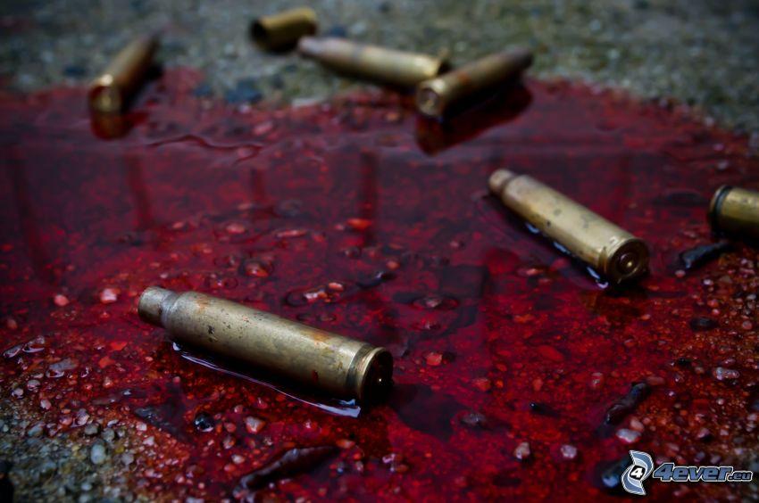 sangre, cartuchos